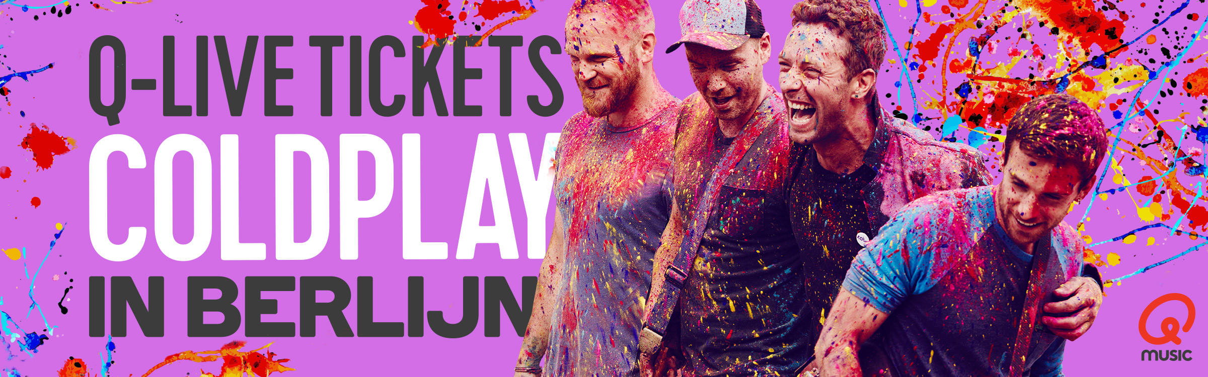 Qmusic actionheader coldplay