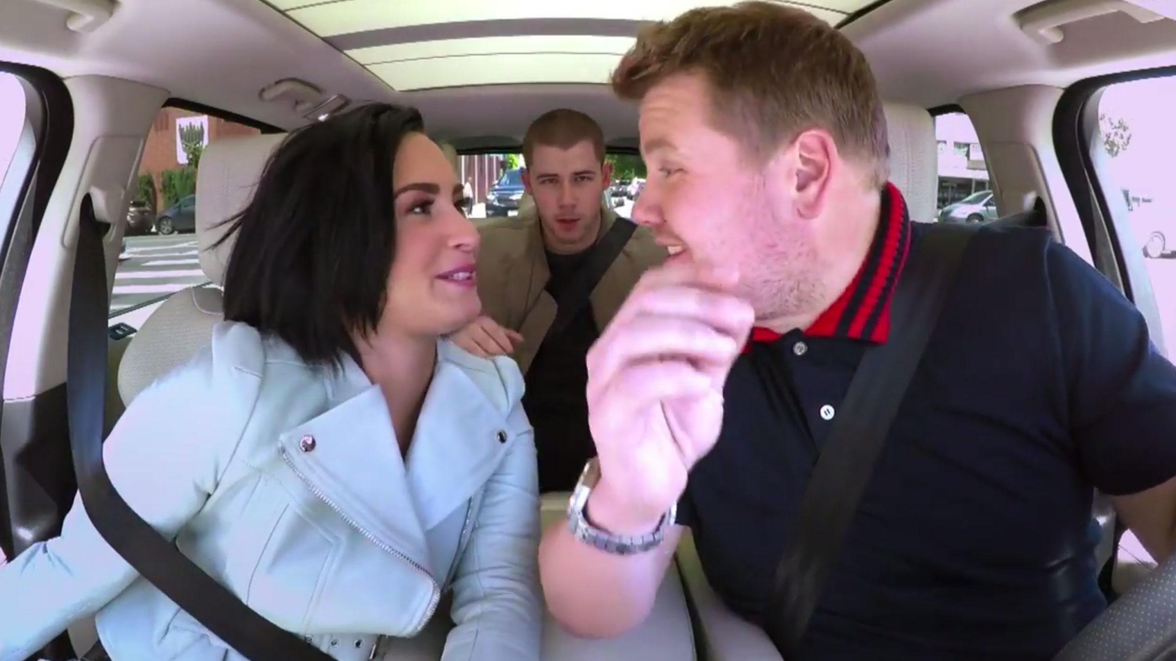Carpool karaoke demi nick teaser