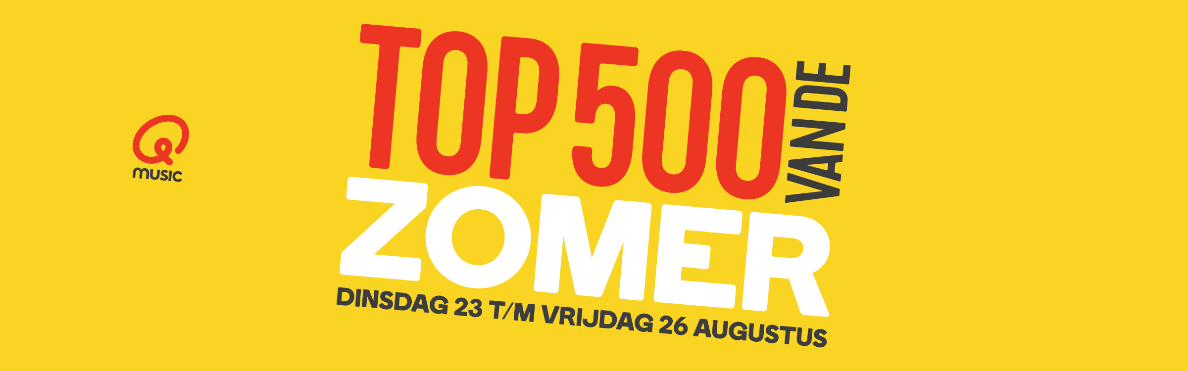 Qmusic actionheader top500zomer 2