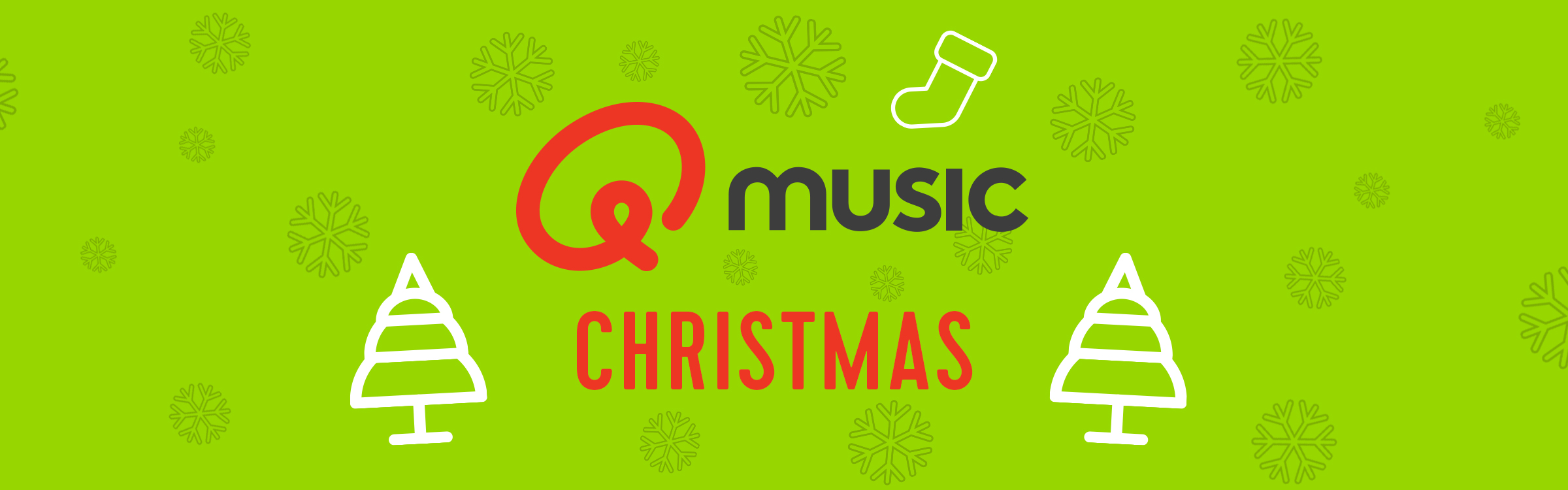 Qmusic actionheader kerst