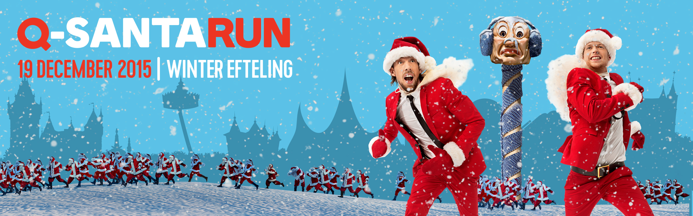 Qmusic actionheader q santarun