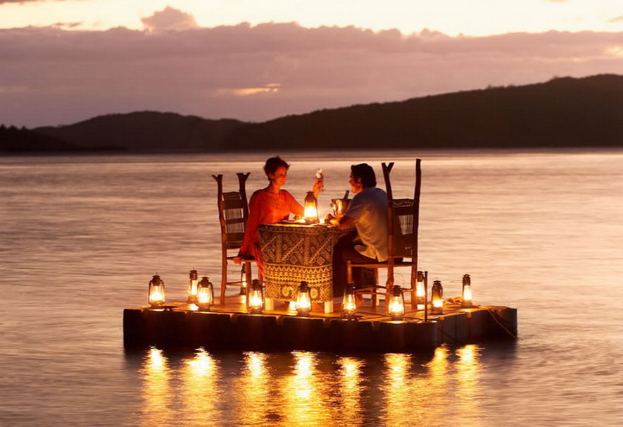 617743 romantic dinner over the sea p