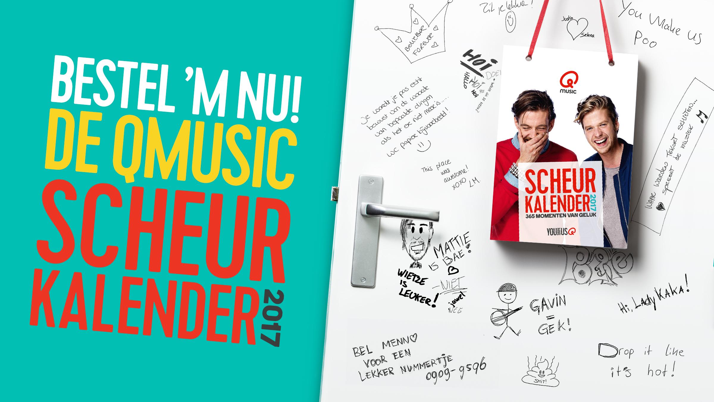 Qmusic teaser scheurkalender2017
