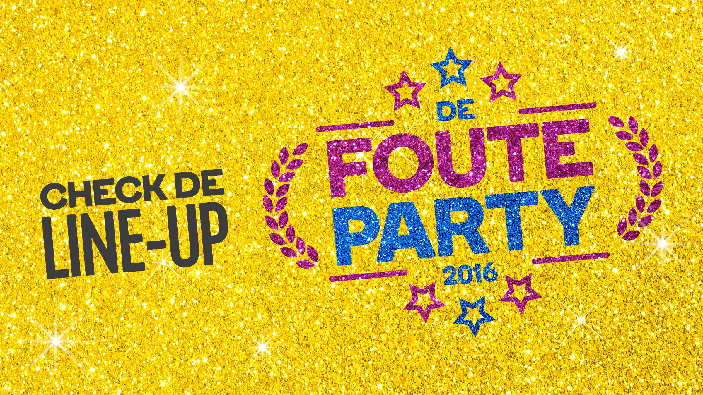 Qmusic teaser fouteparty line up