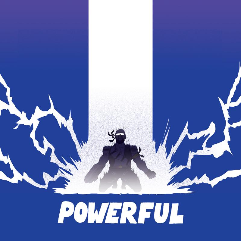 Major lazer powerful artwork