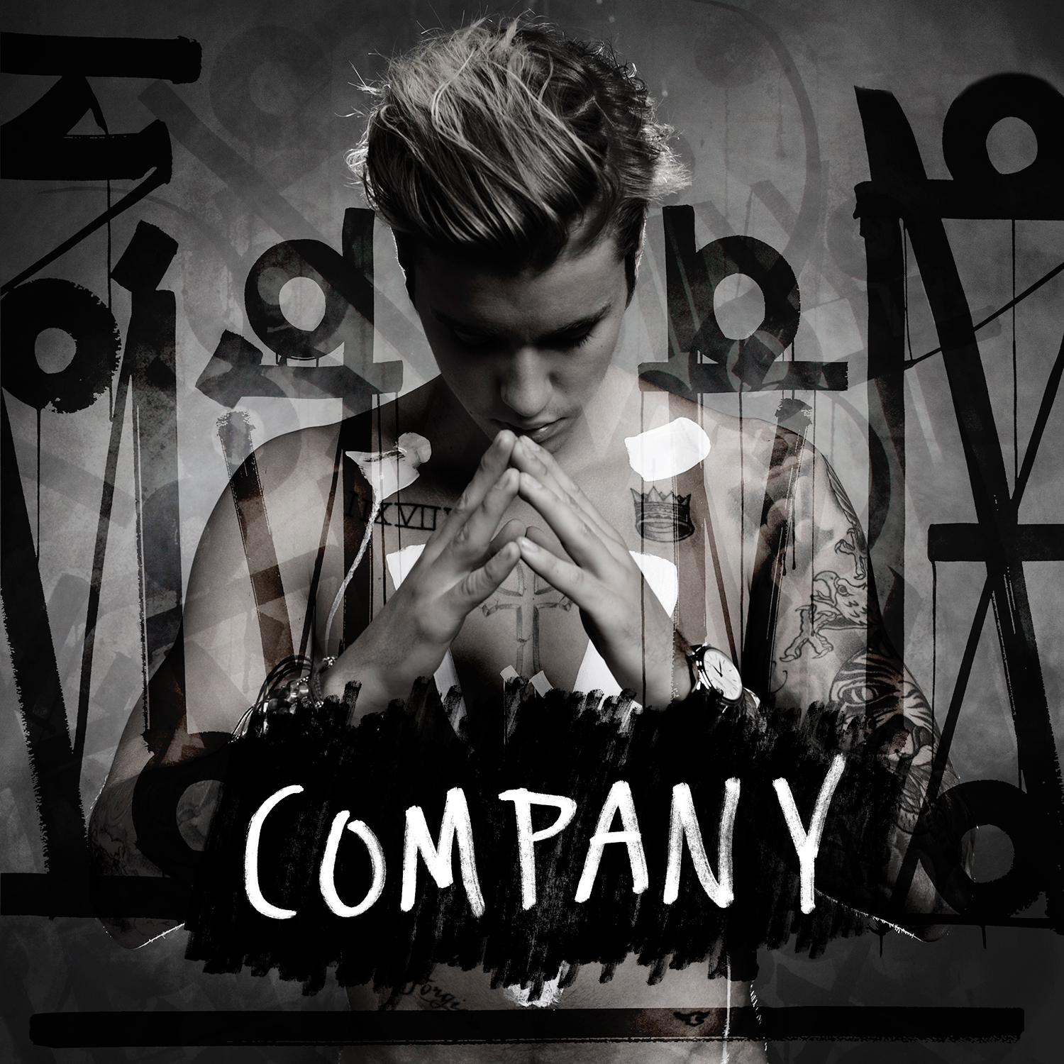 Capa do single company do justin bieber