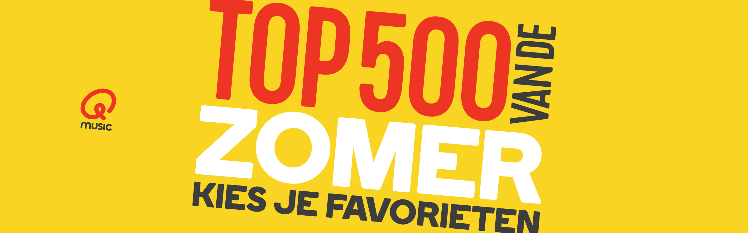 Qmusic actionheader top500zomer
