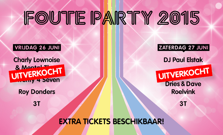 Fouteparty2015 auto promo line up new uitv