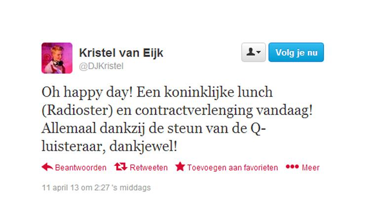 Kristel tweet