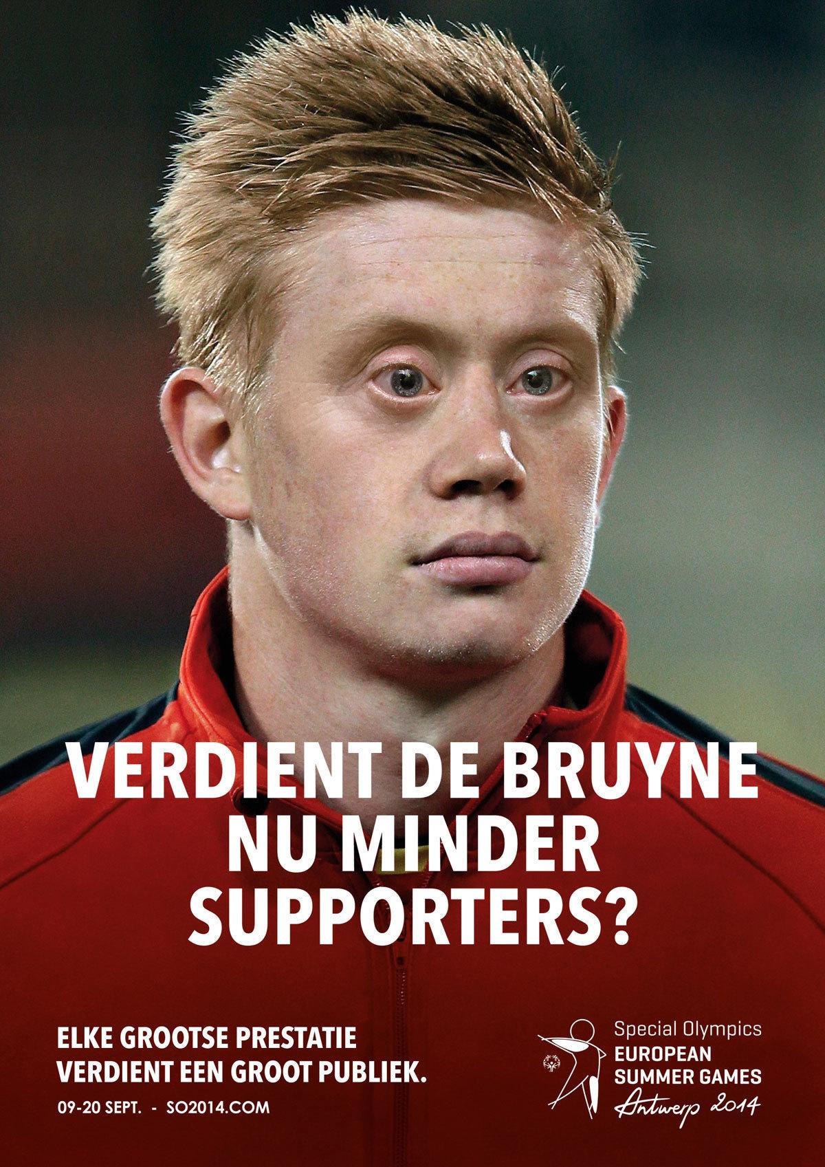 Special olympics belgium kevin de bruyne