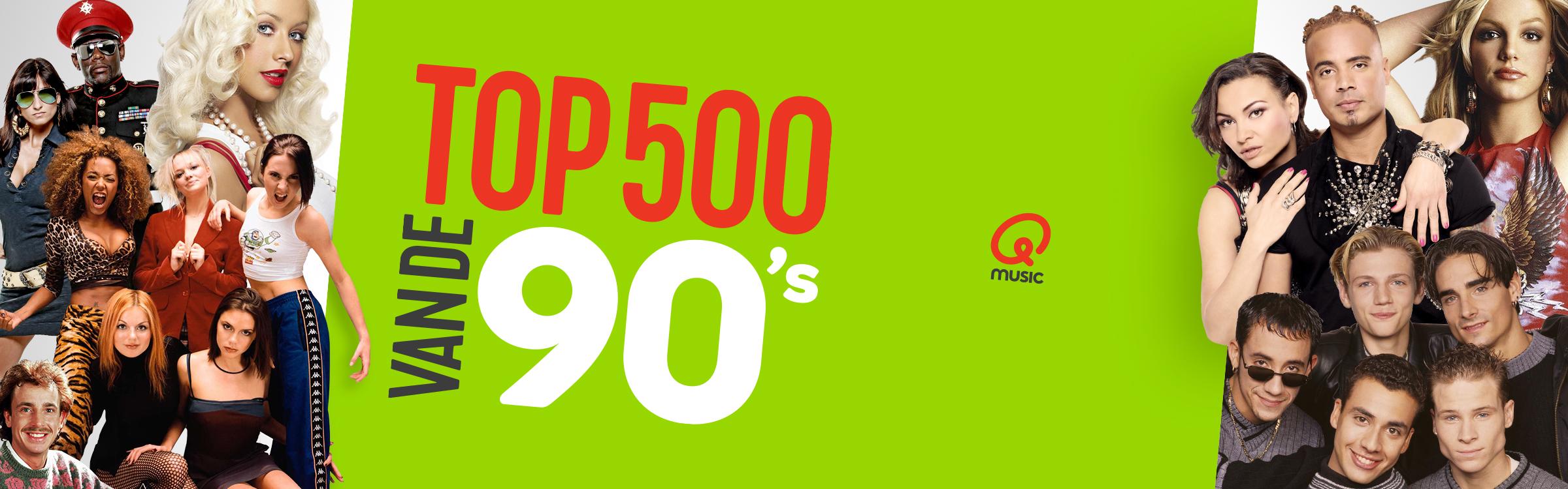 Qmusic actionheader top500 90s de lijst