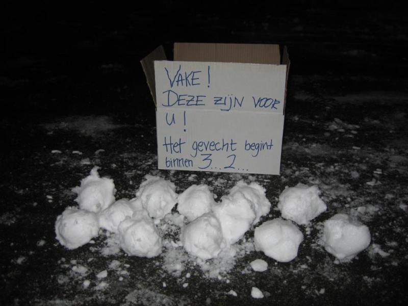 Doe eens iets sneeuwballen