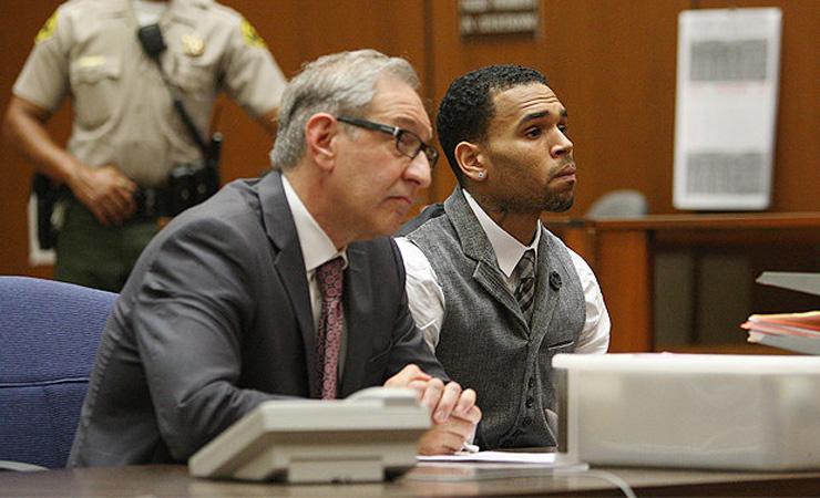 Chris brown court case la probation marijuana test positive