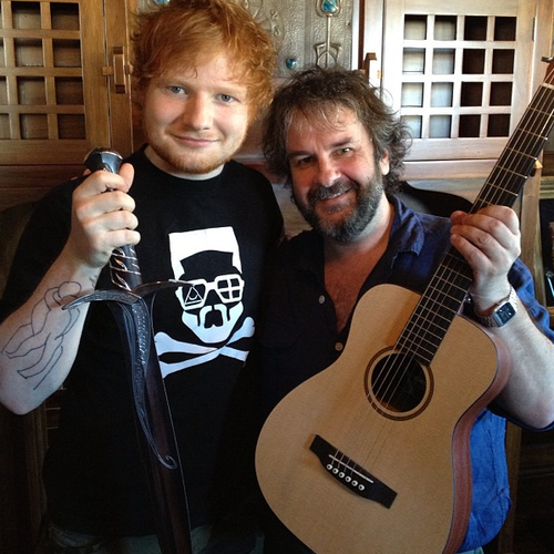 Ed sheeran with peter jackson twitter 1362739721 custom 0